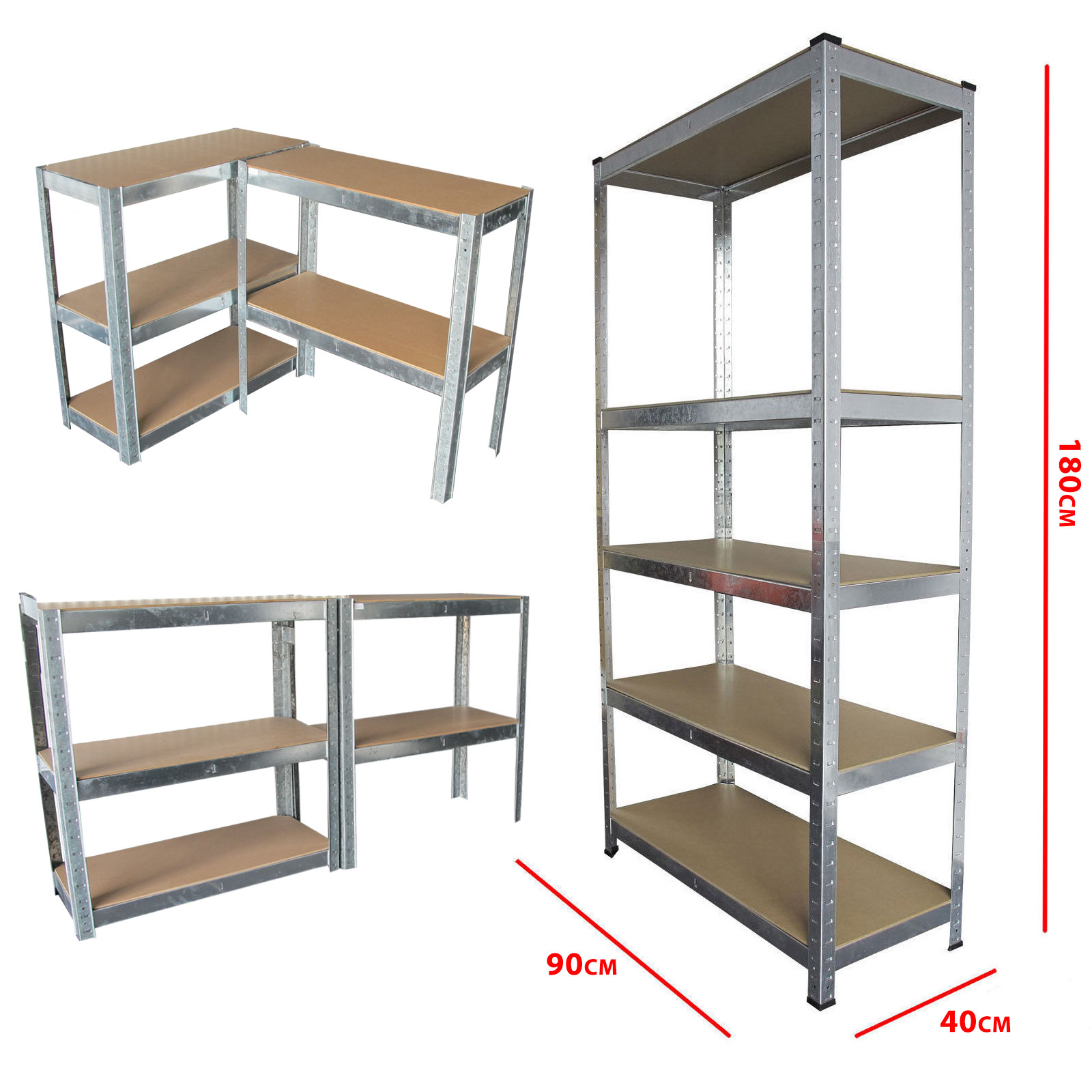 metal storage shelves boltless 5 tier heavy duty garage storage metal steel 23296