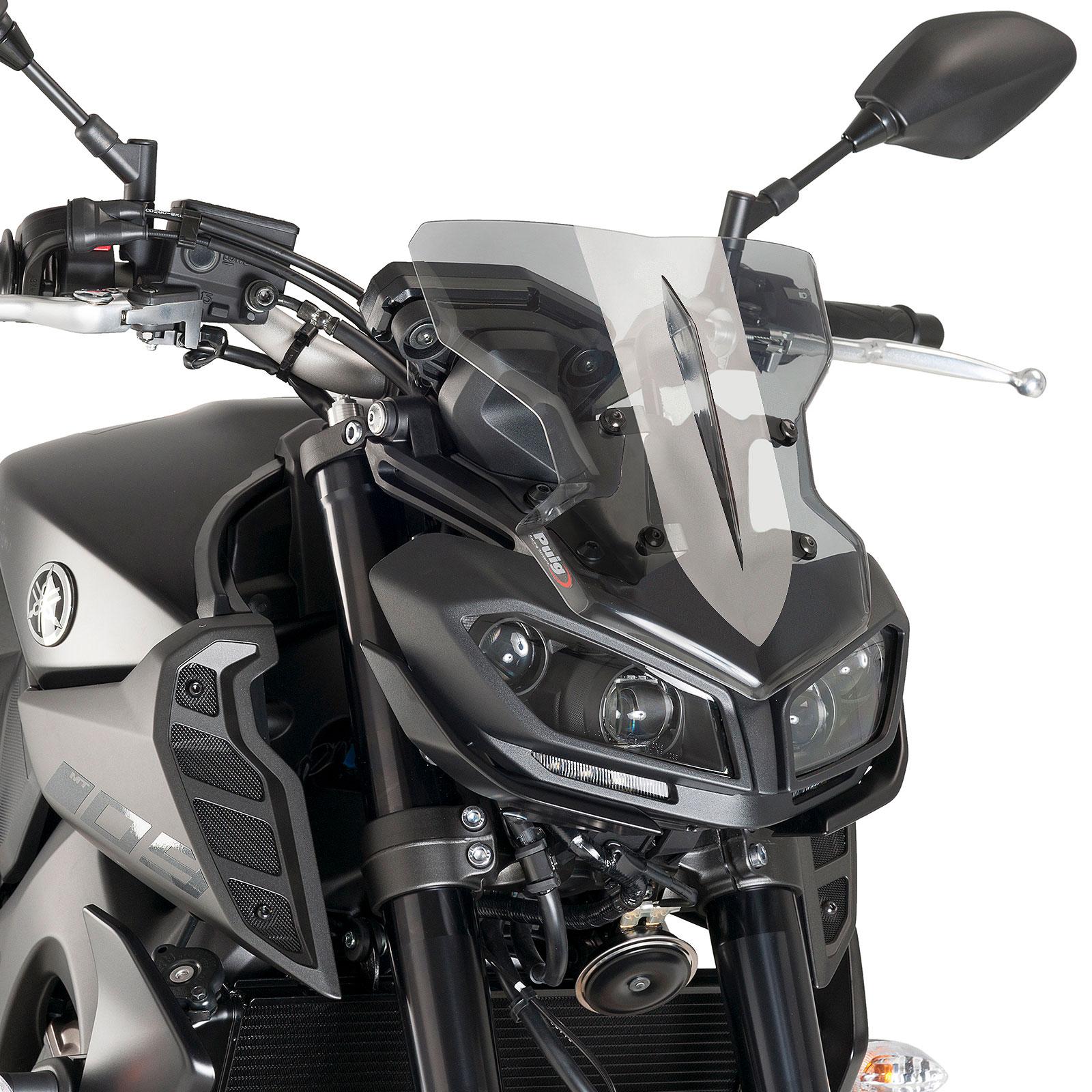 Yamaha Mt 09 2017 2018 Puig New Generation Sport Fly Screen Light Tint Mt09