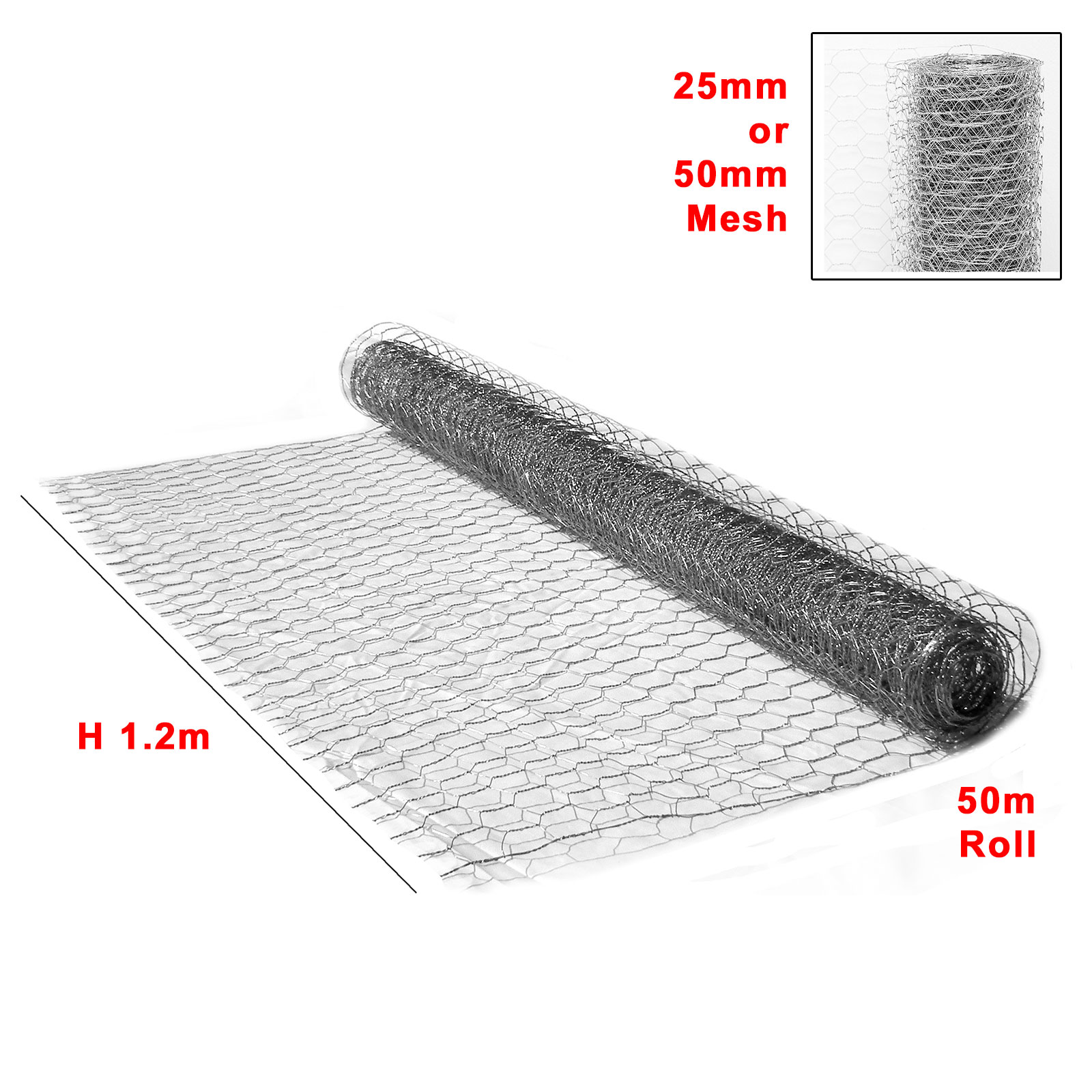 50M Wire Mesh Galvanised Fencing Chicken Netting Rabbit Fence Pet ...