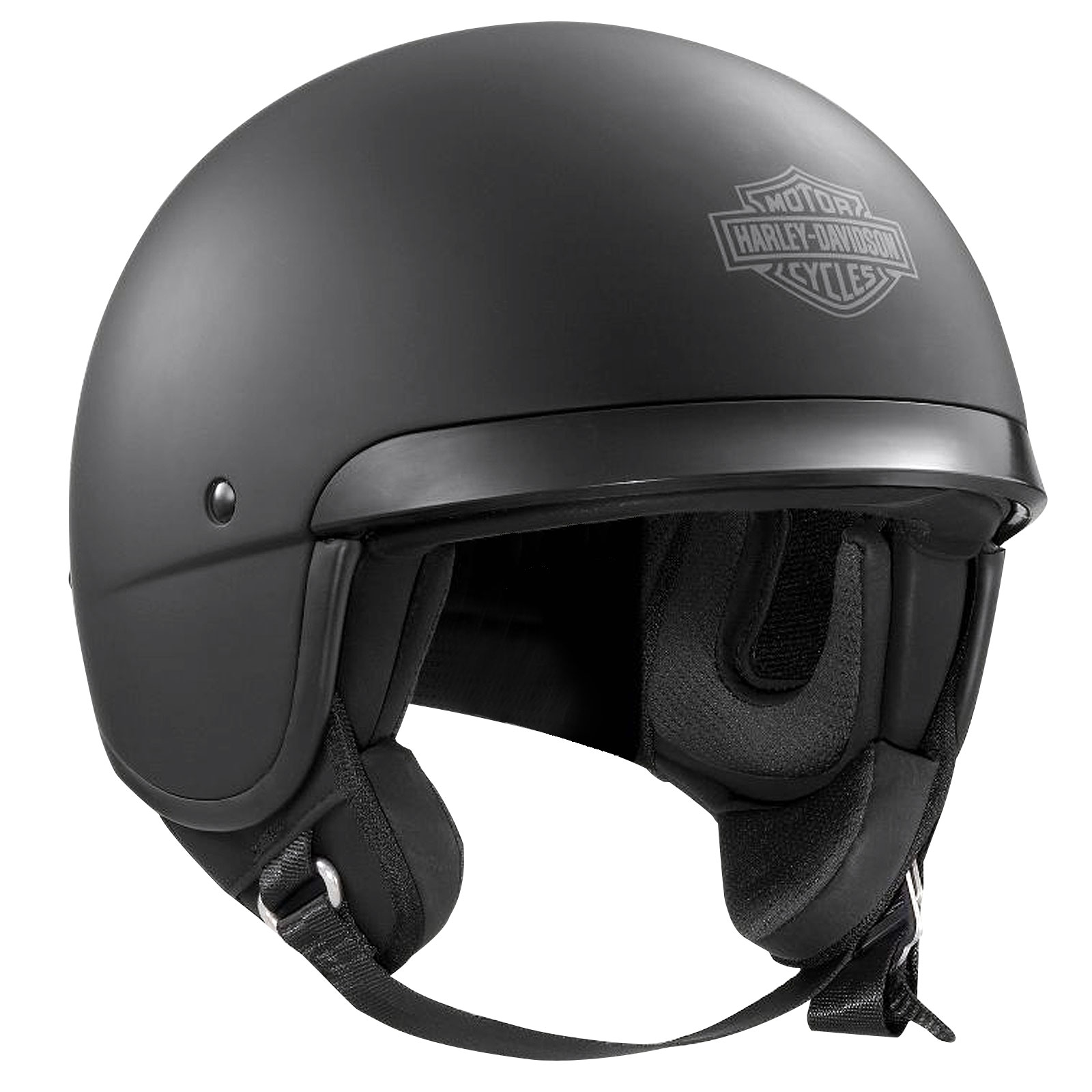 genuine harley davidson hightail b09 5 8 open face motorcycle helmet matt black ebay. Black Bedroom Furniture Sets. Home Design Ideas
