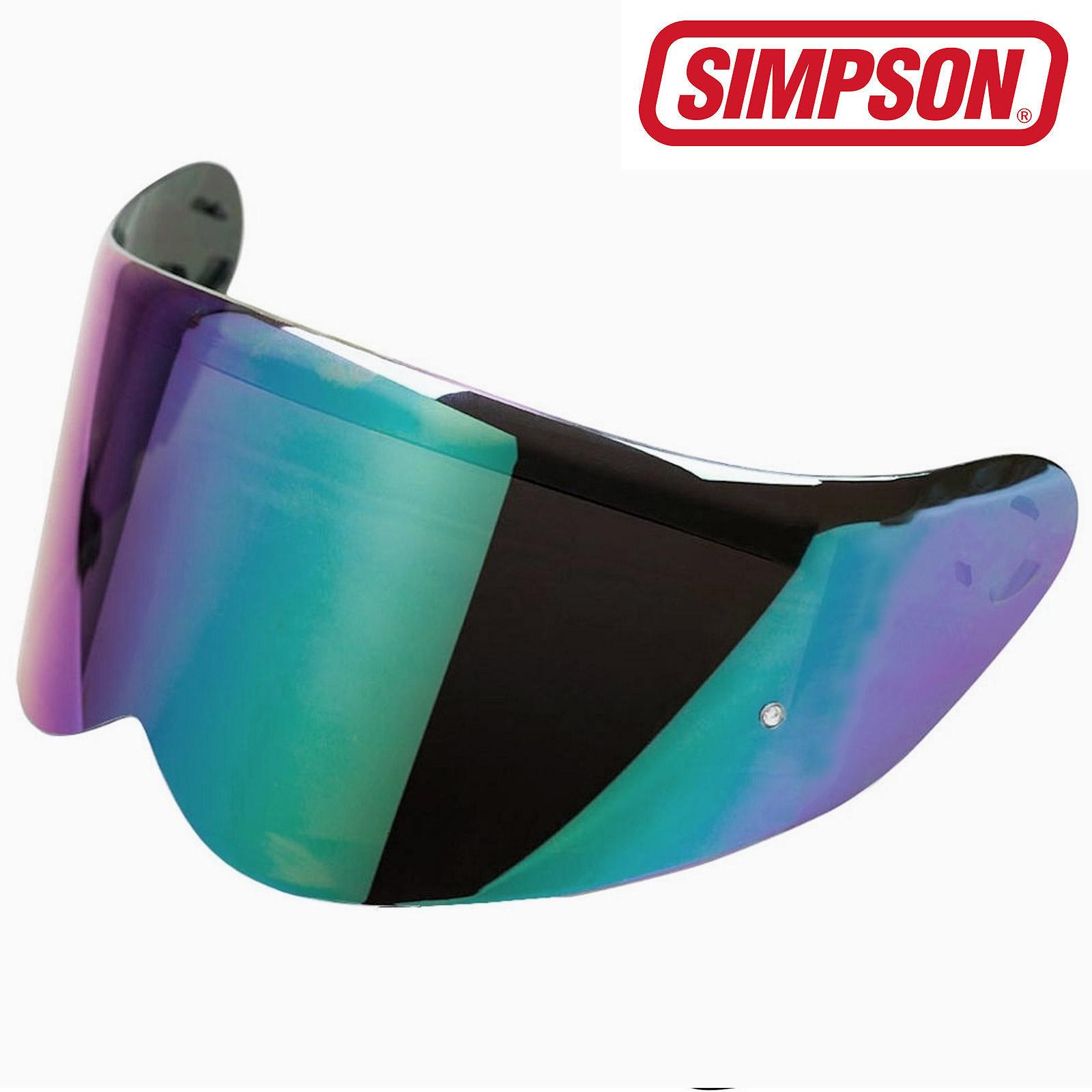 948fca93 Details about Simpson Venom Genuine Rainbow Iridium Tint Replacement Visor  with Pin Lock Post