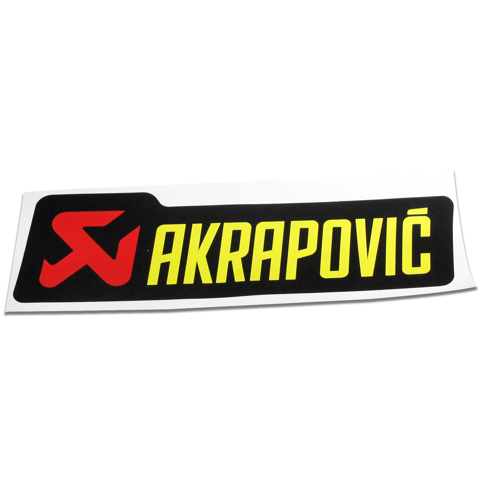 Details about motorcycle bike akrapovic exhaust silencer can decal badge sticker 150mm