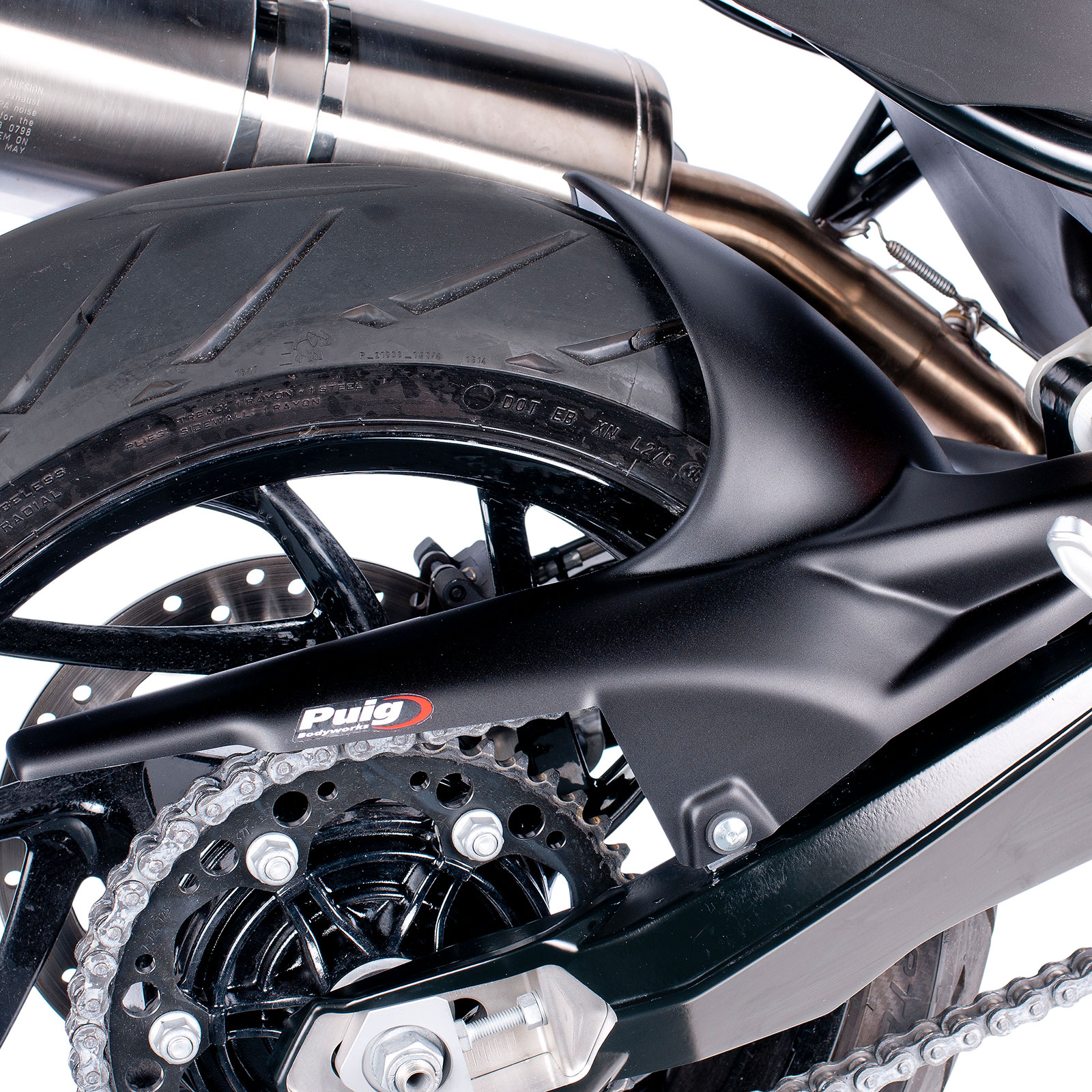 Details About Puig Motorcycle Rear Wheel Hugger Bmw F 800 R 2009 2019 Black