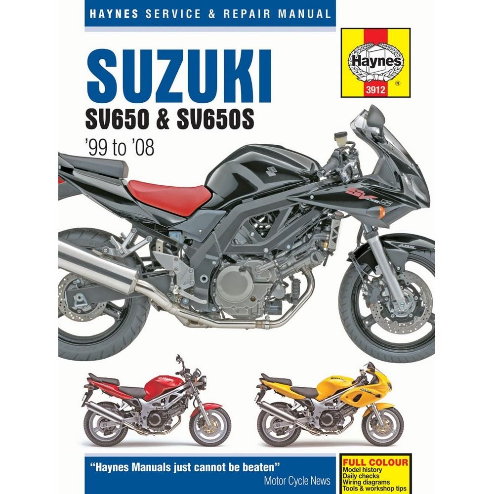 Suzuki SV650 SV650S 1999-2008 Haynes Workshop Service Manual