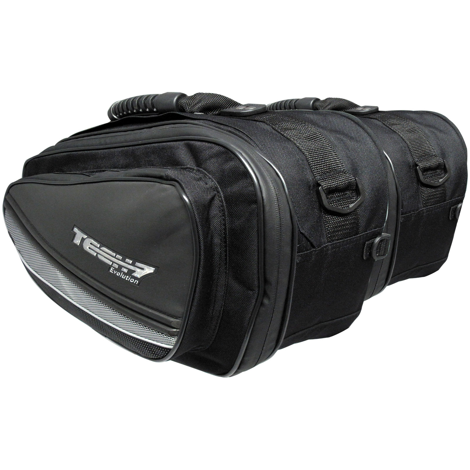 f984699d44 Details about Tech 7 Black Expandable Throw Over Panniers Saddlebags  Motorcycle Luggage