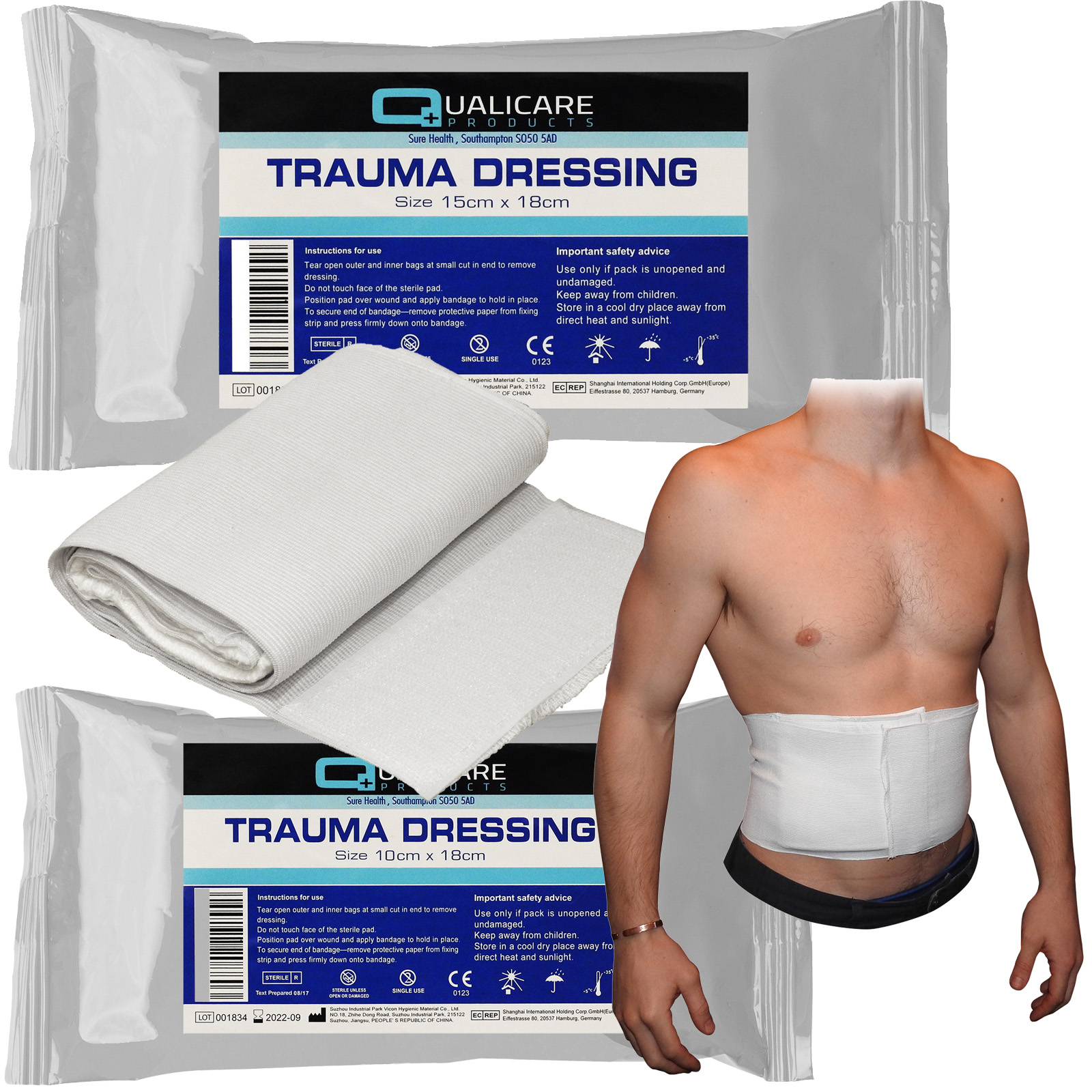 Sterile Bandage Wound Blood Clot Haemostatic Field Trauma Dressing Urgent Rescue