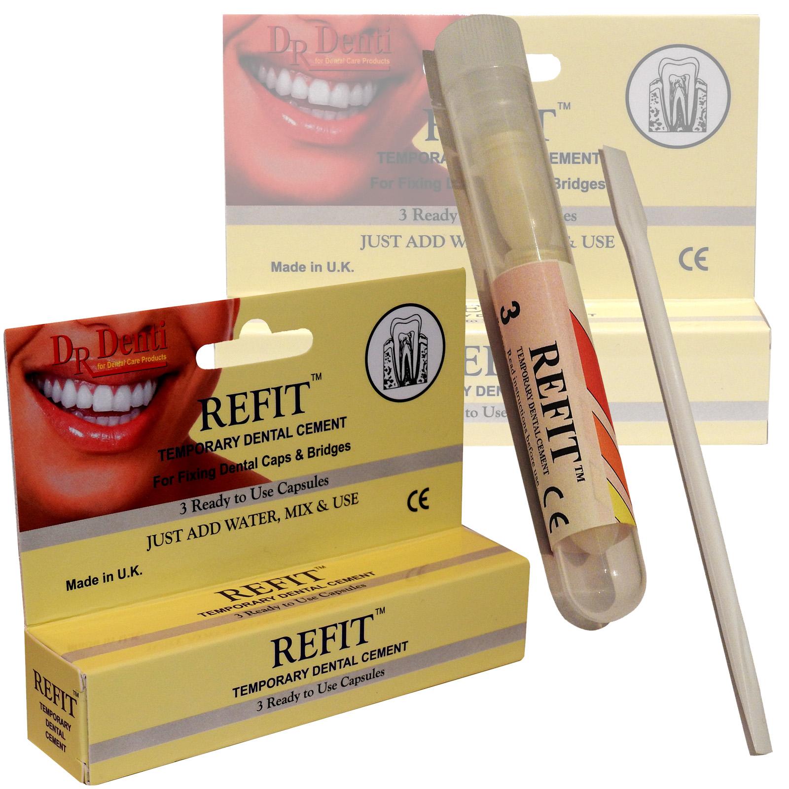 Dr Denti Refit Emergency Temporary Dental Caps Bridges Veneers