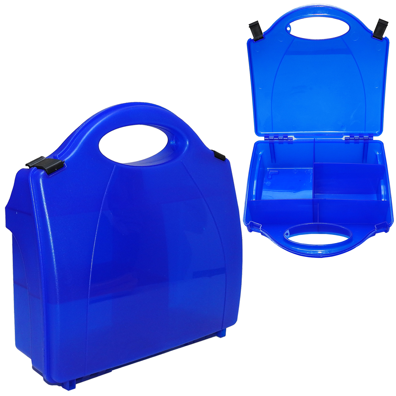 Details about Steroplast Premium Blue Premier Empty Build Your Own First  Aid Kit Storage Box
