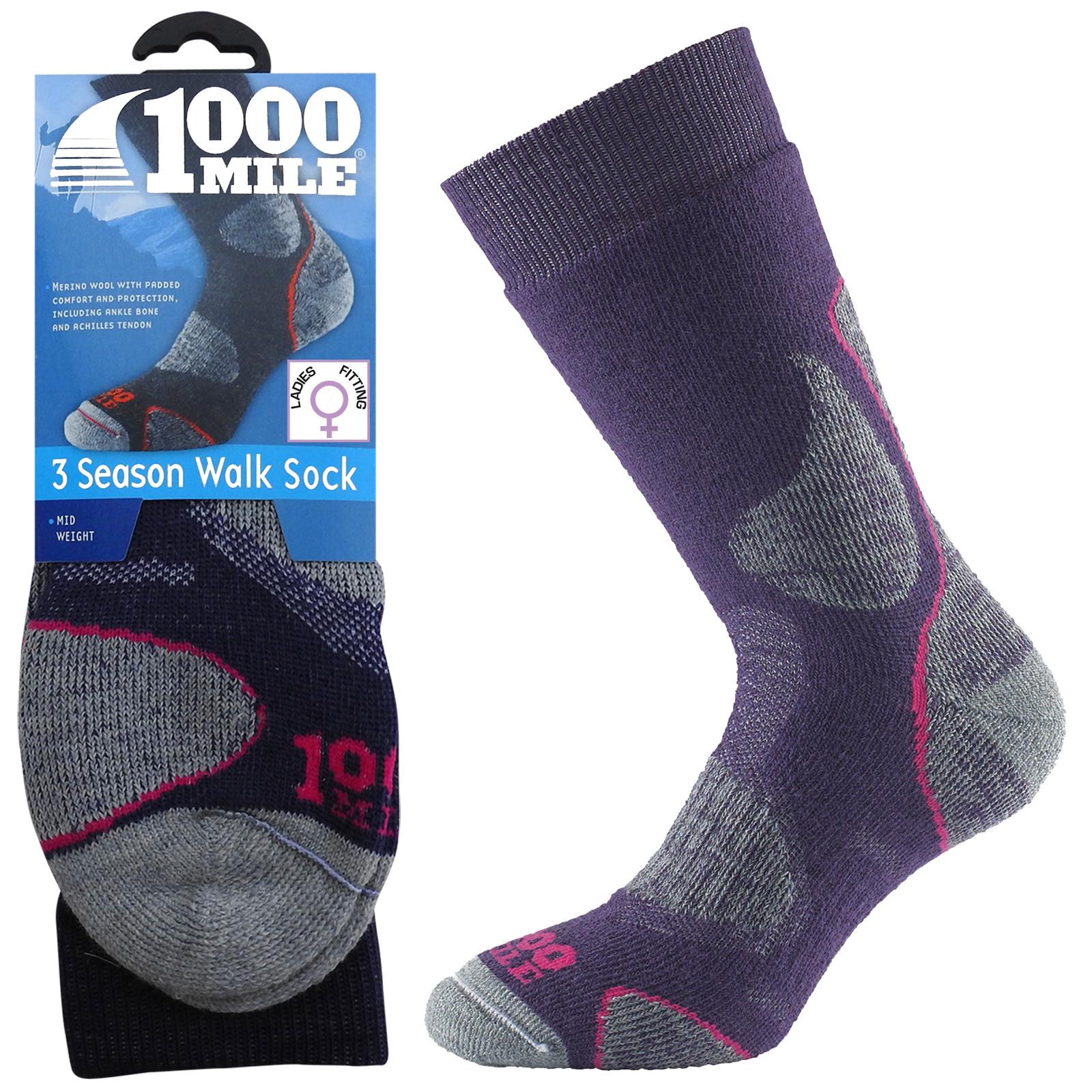 Sentinel 1000 Mile 3 Season Ladies Womens Winter Hiking Walking Comfort  Merino Wool Socks be7debd579