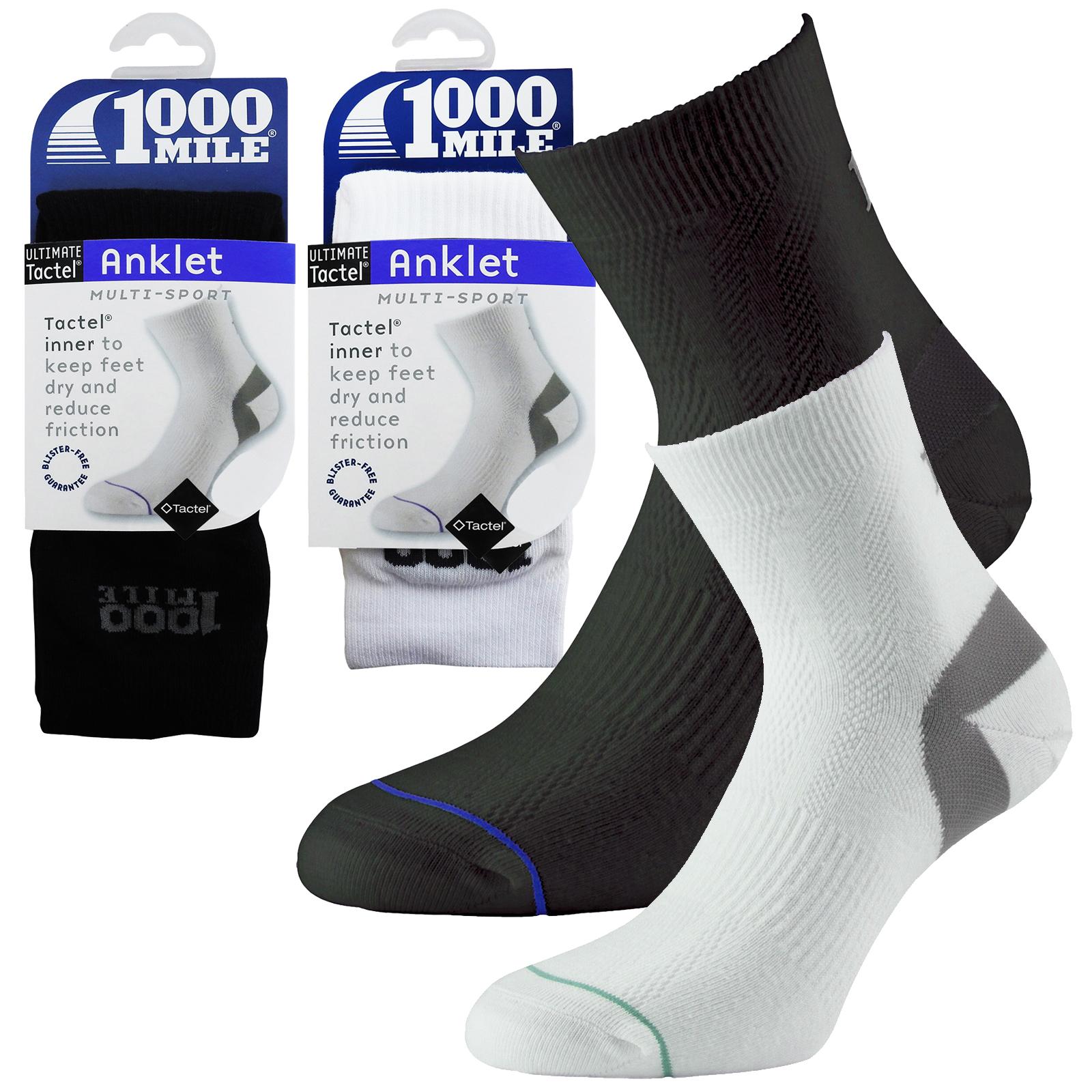 1000 Mile Mens Running Anklet Socks-Twin Pack