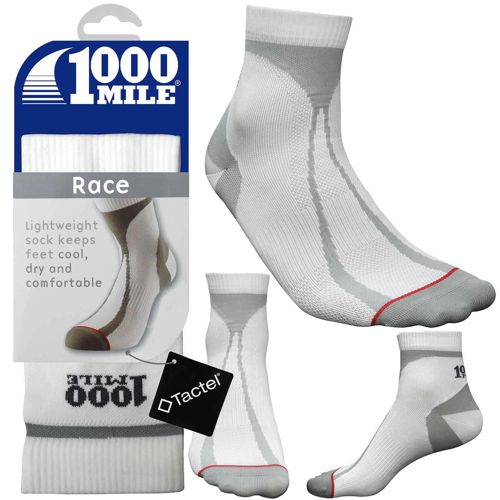 1000 Mile Mens Fusion Sport Socks Black Sports Running Gym Padded Heel Achilles