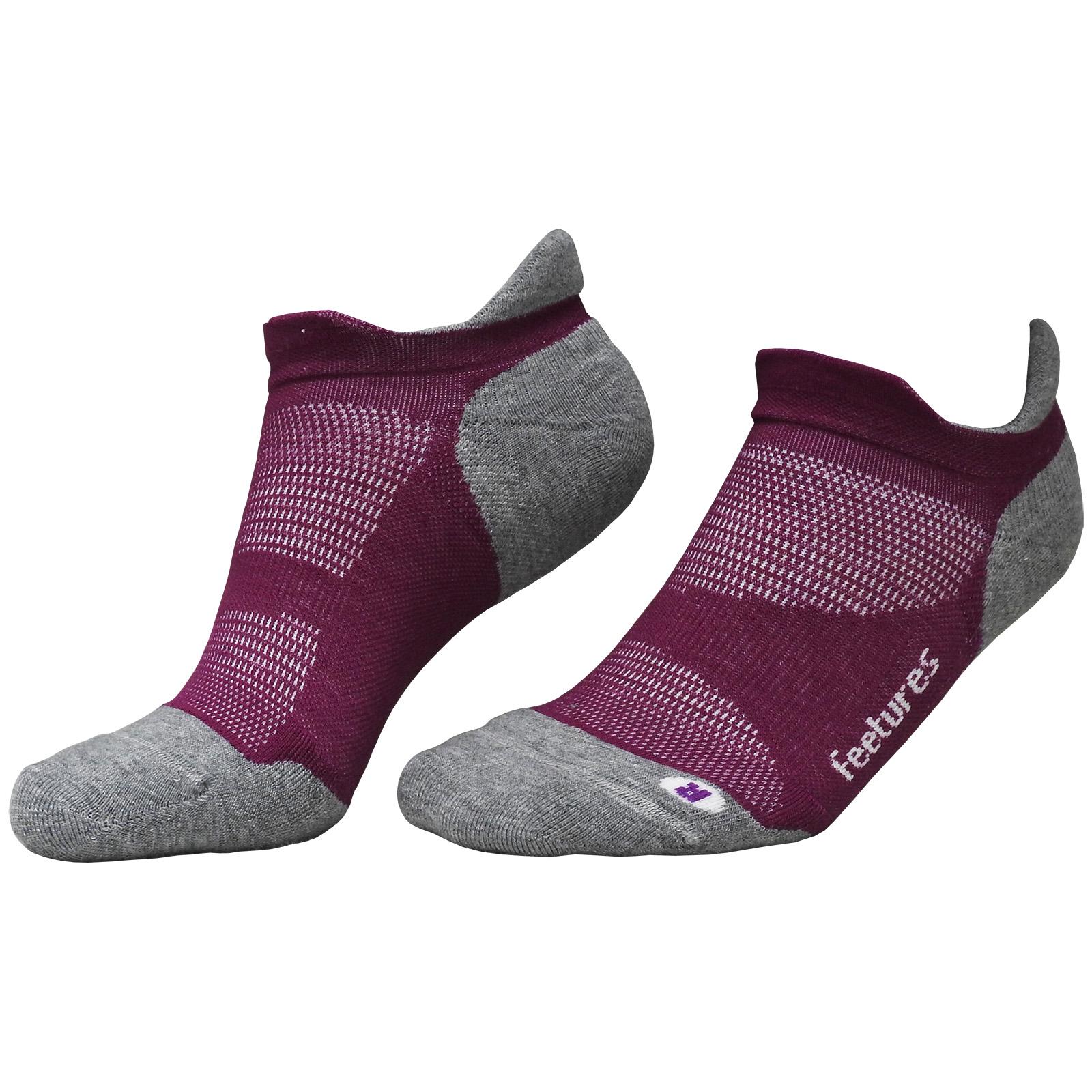Feetures Elite NST  Premium Sports Running Gym Blister Free Ankle Socks Black