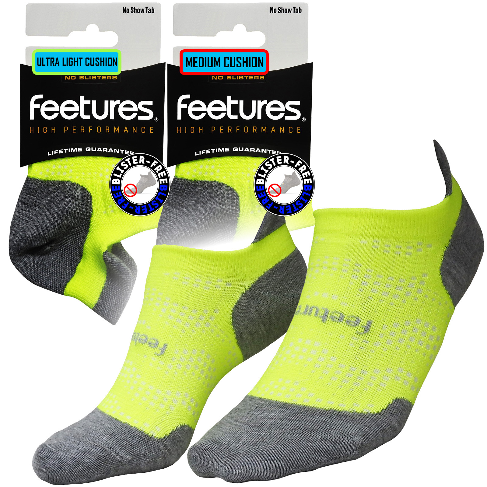 Feetures High Performance Ultra Light No Show Tab Reflector Size M
