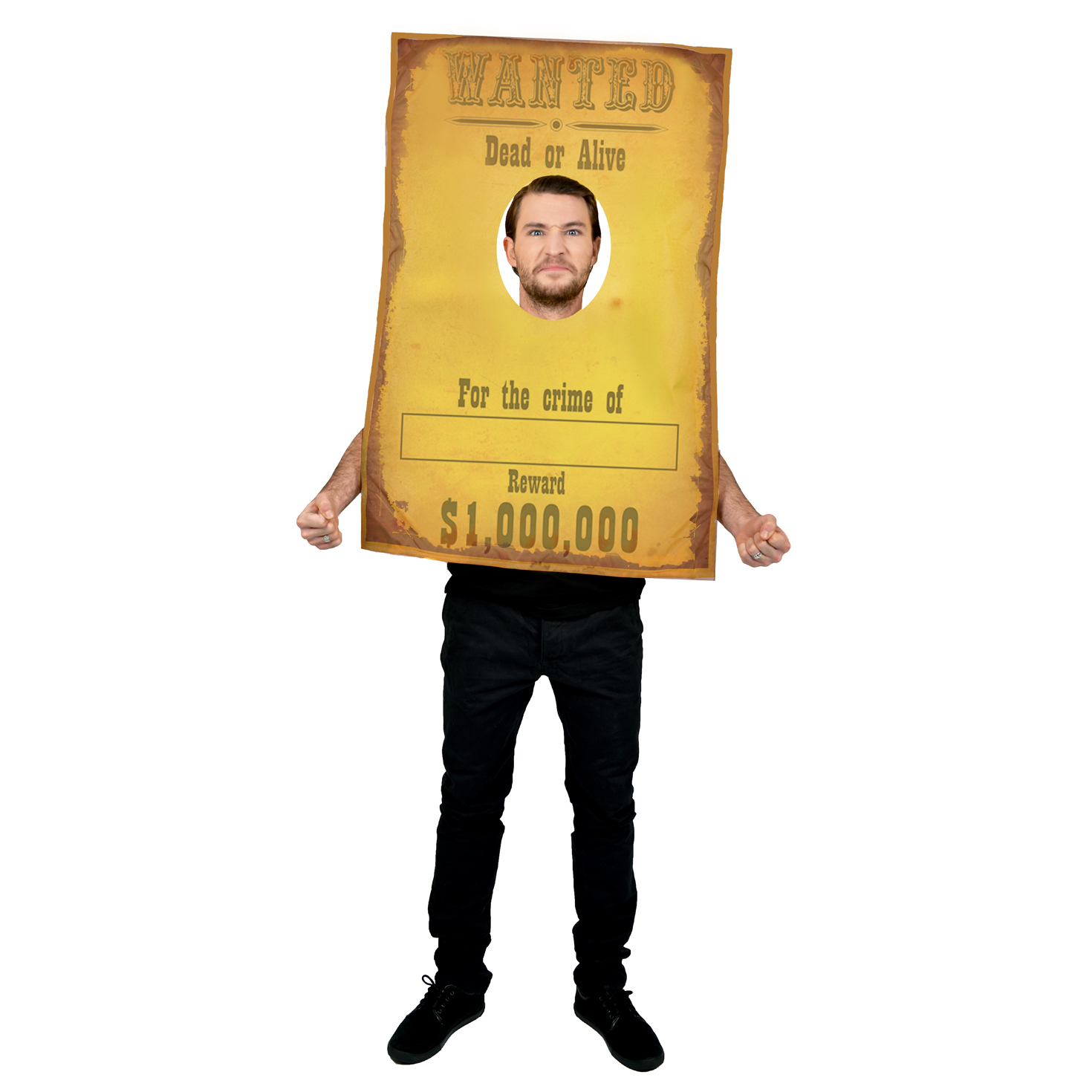 Cowboy wanted poster funny wild west fancy dress costume stag party festival ebay - Wild west funny ...