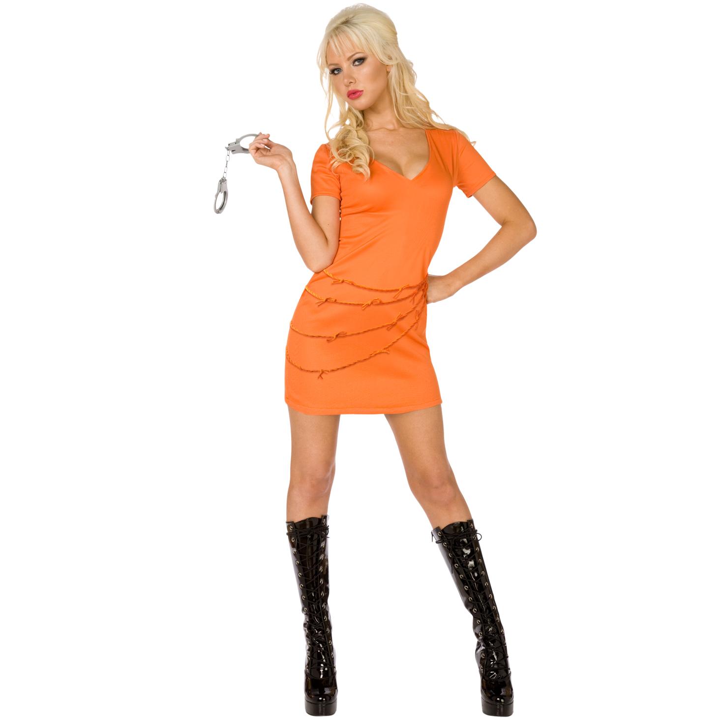 Item specifics  sc 1 st  eBay & Womens Sexy Prisoner Convict Orange Jumpsuit Fancy Dress Costume ...