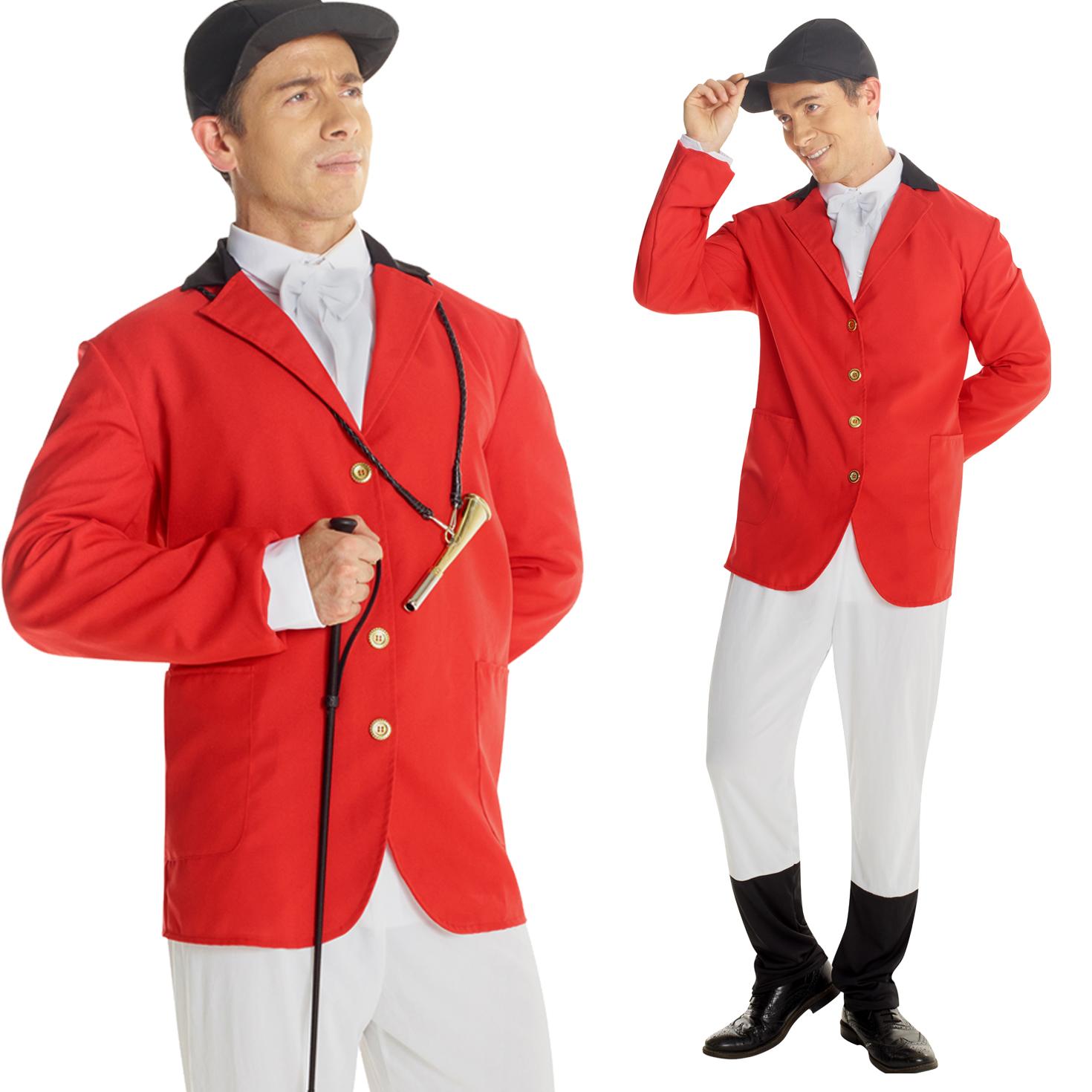 Fox Hunting Costume Tally Ho Chaps!!  sc 1 st  eBay & Mens Fox Hunter Foxhunter Costume Fancy Dress Stag Nights Group ...