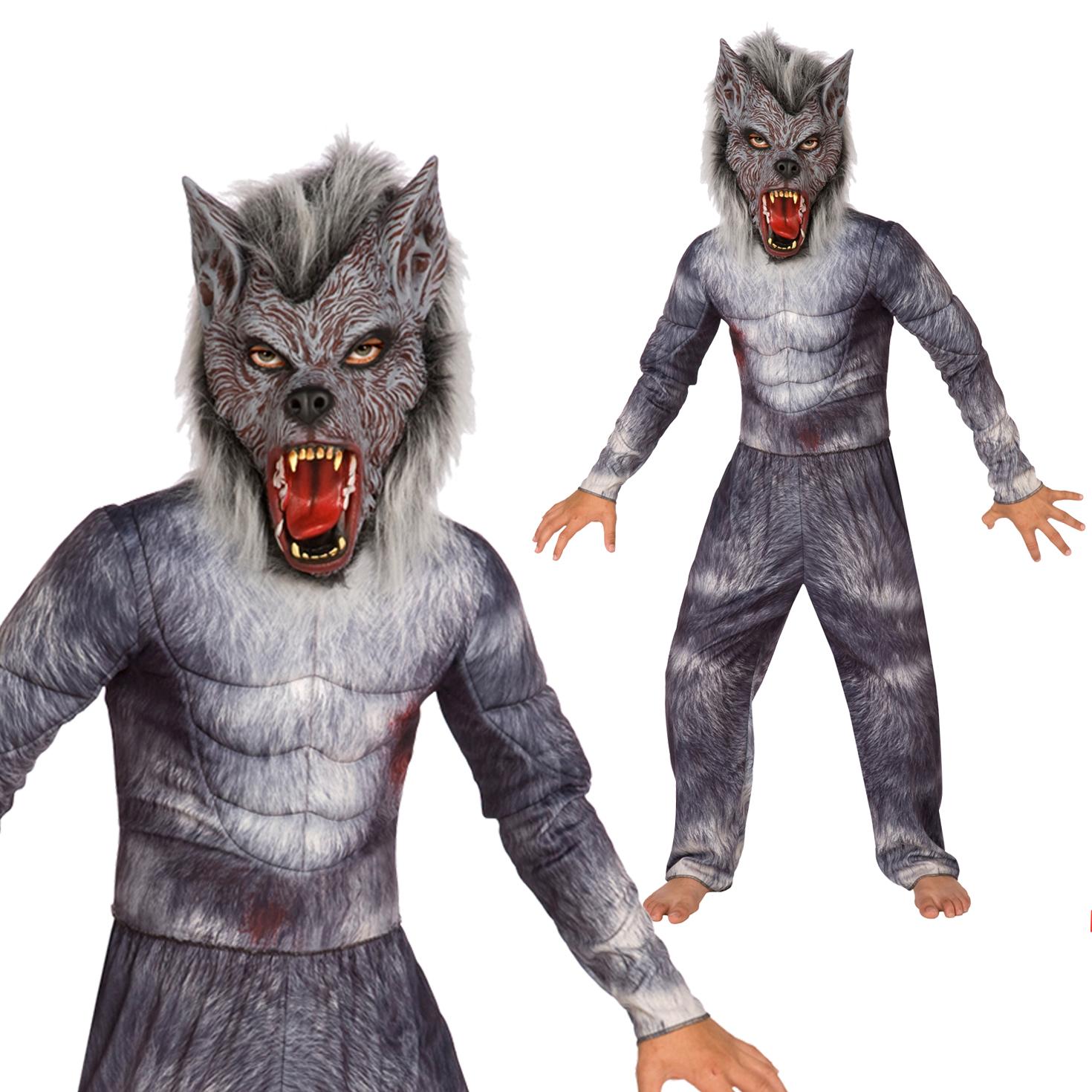 Aninimal Book: Kids Deluxe Werewolf Costume Boys Halloween Fancy Dress ...