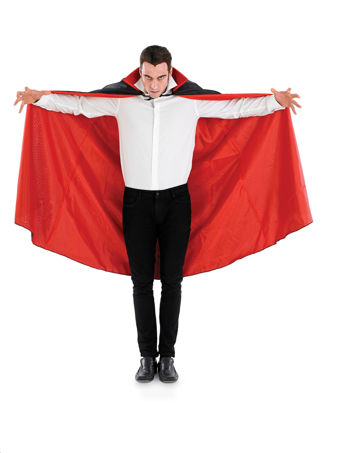 Vampire Cape with Collar adult fancy dress