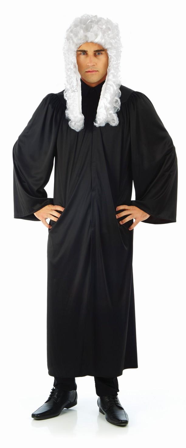 Adulto alto magistrato avvocato Abito legale Fancy Dress Costume Maschile Uomo OUTFIT