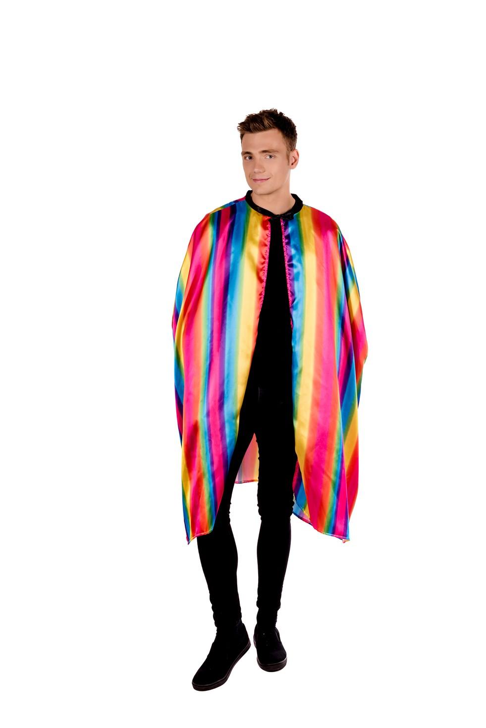 Pride Rainbow Cape Festival Parade Party Fancy Dress Accessories