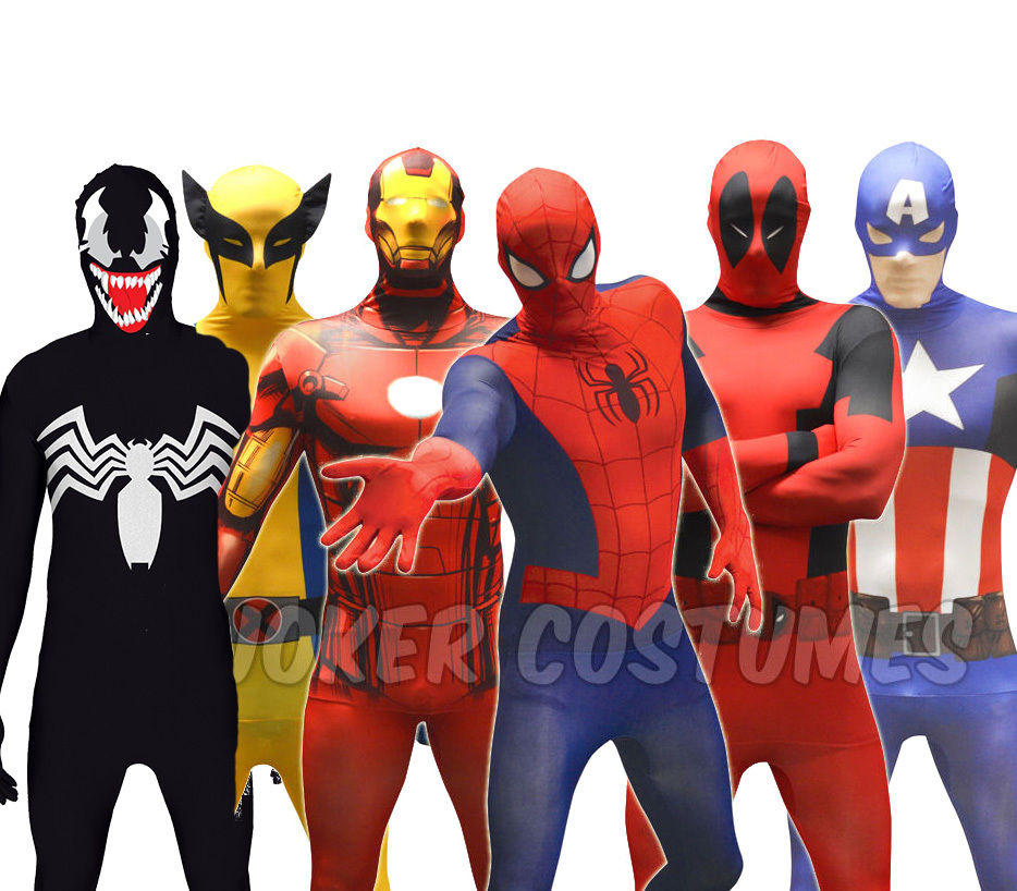 billige marvel superhelden morphsuit