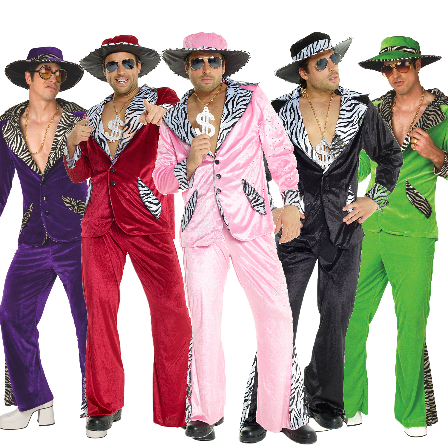 Mens Pimp Daddy Velvet Suit - 5 Colours  sc 1 st  eBay : pimp costumes for mens  - Germanpascual.Com