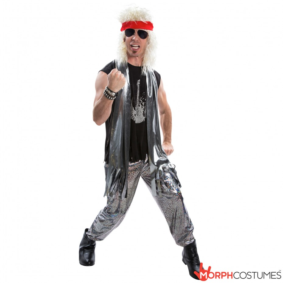 Mens Glam Rock 1970s 1980s Fancy Dress Costume L XL 70s ...
