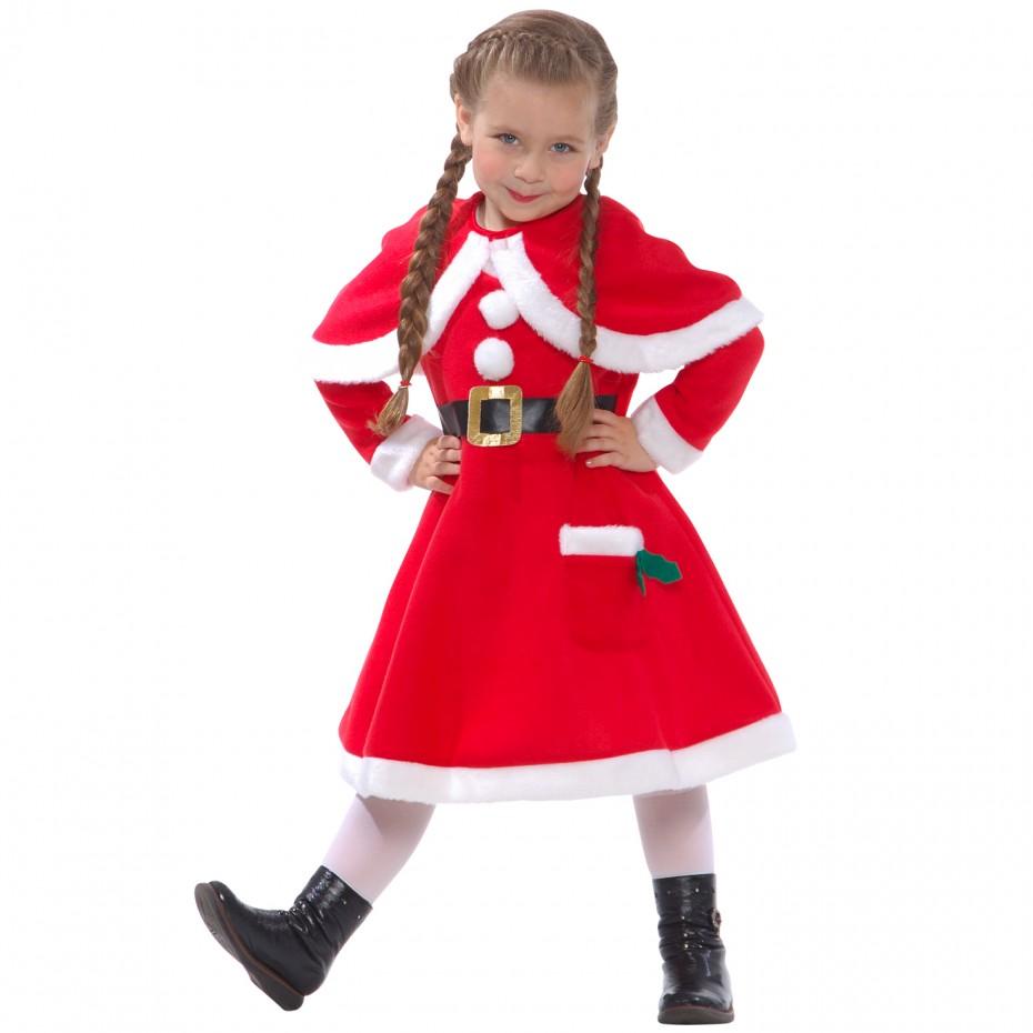 Girls Miss Gingerbread Man Costume Bambini Natale Fancy Dress Costume Festa Di Natale