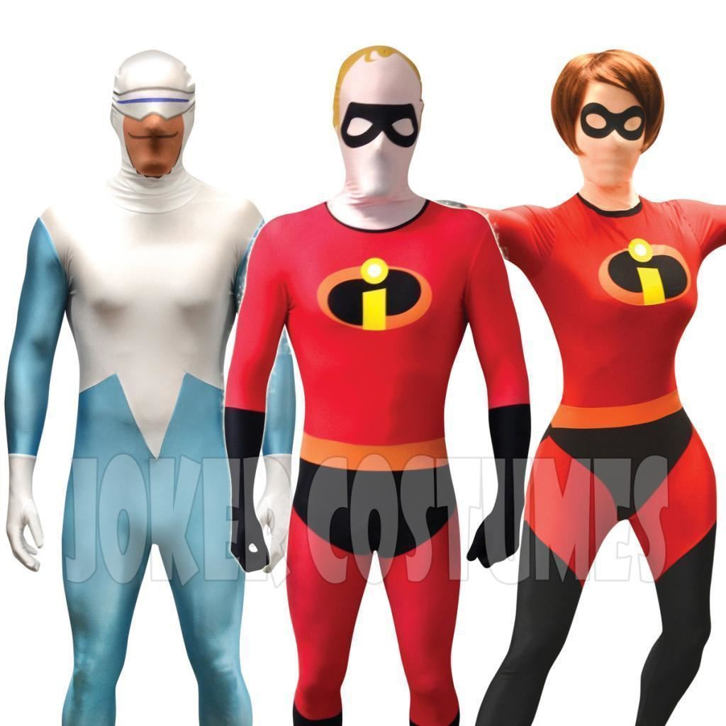 THE INCREDIBLES MORPHSUITS  sc 1 st  eBay & The Incredibles Morphsuit Fancy Dress Costume Mr u0026 Mrs Incredible ...