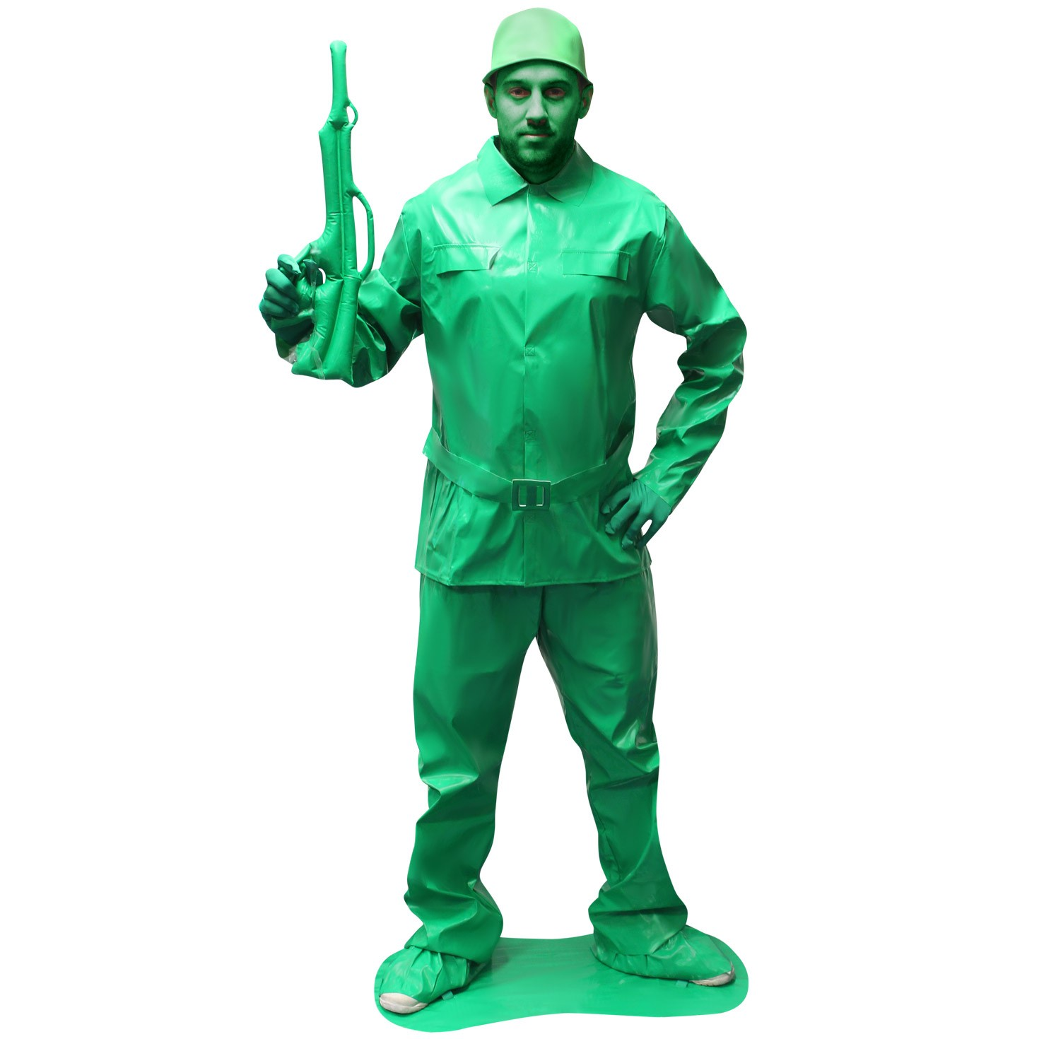 Details about Mens Toy Soldier Fancy Dress Costume Military Army Outfit Saving Private Morph