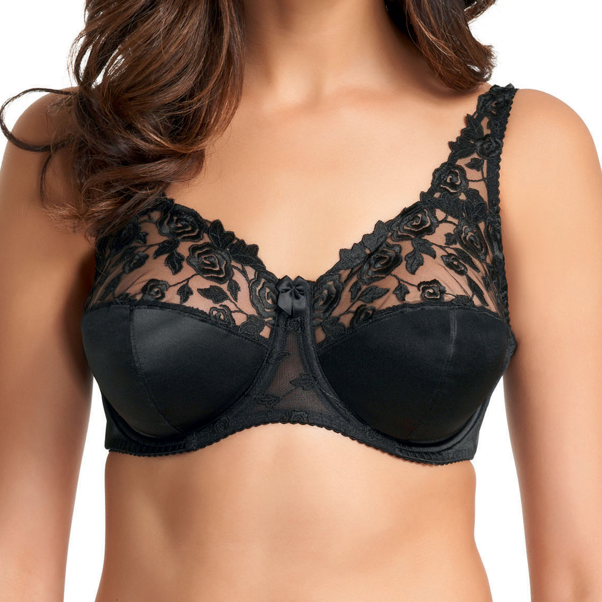1d5b567dc2 New Fantasie Belle Underwire Full Cup Bra Black 6001 Various Sizes GG to JJ