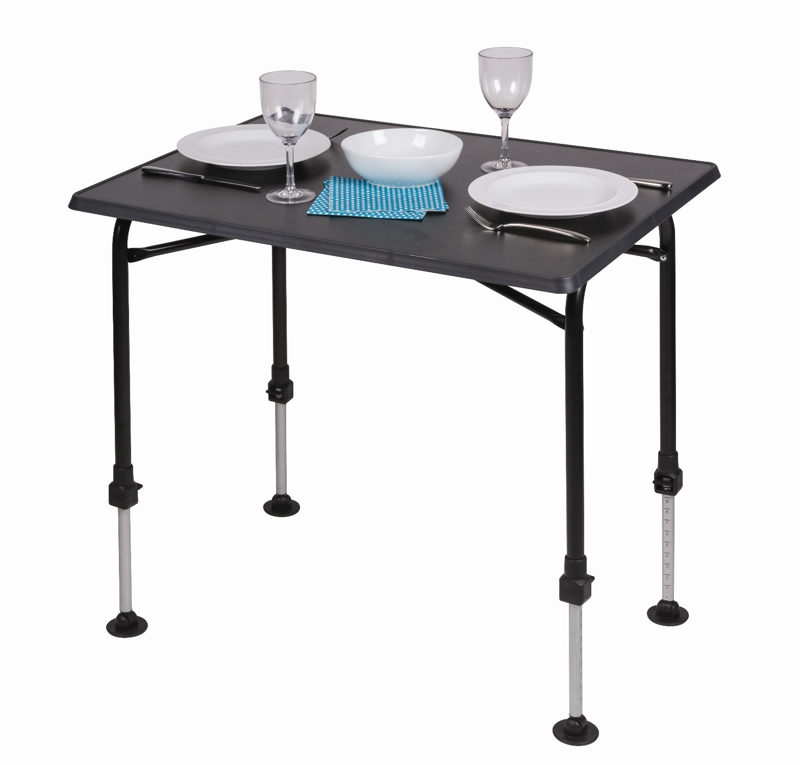 Kampa hi lo pro medium premium folding camping table with adjustable legs 5060444794250 ebay - Camping table adjustable height ...