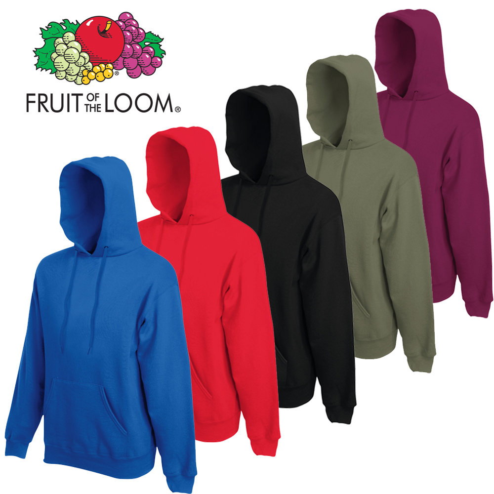 Fruit Of The Loom Classic Hooded Sweat   Gadget365