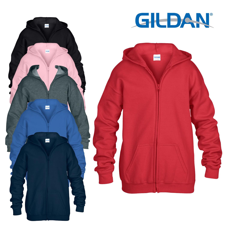 454364e8a7a CENTINELA Gildan niños de sudadera con cremallera con capucha cremallera  capucha chicos chicas HEAVY BLEND