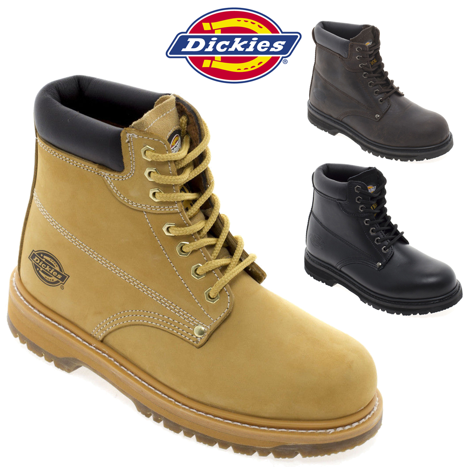 2d75b43f070 Details about Dickies FA23200 Cleveland Safety Work Boot Mens Leather  Workwear Shoes Footwear