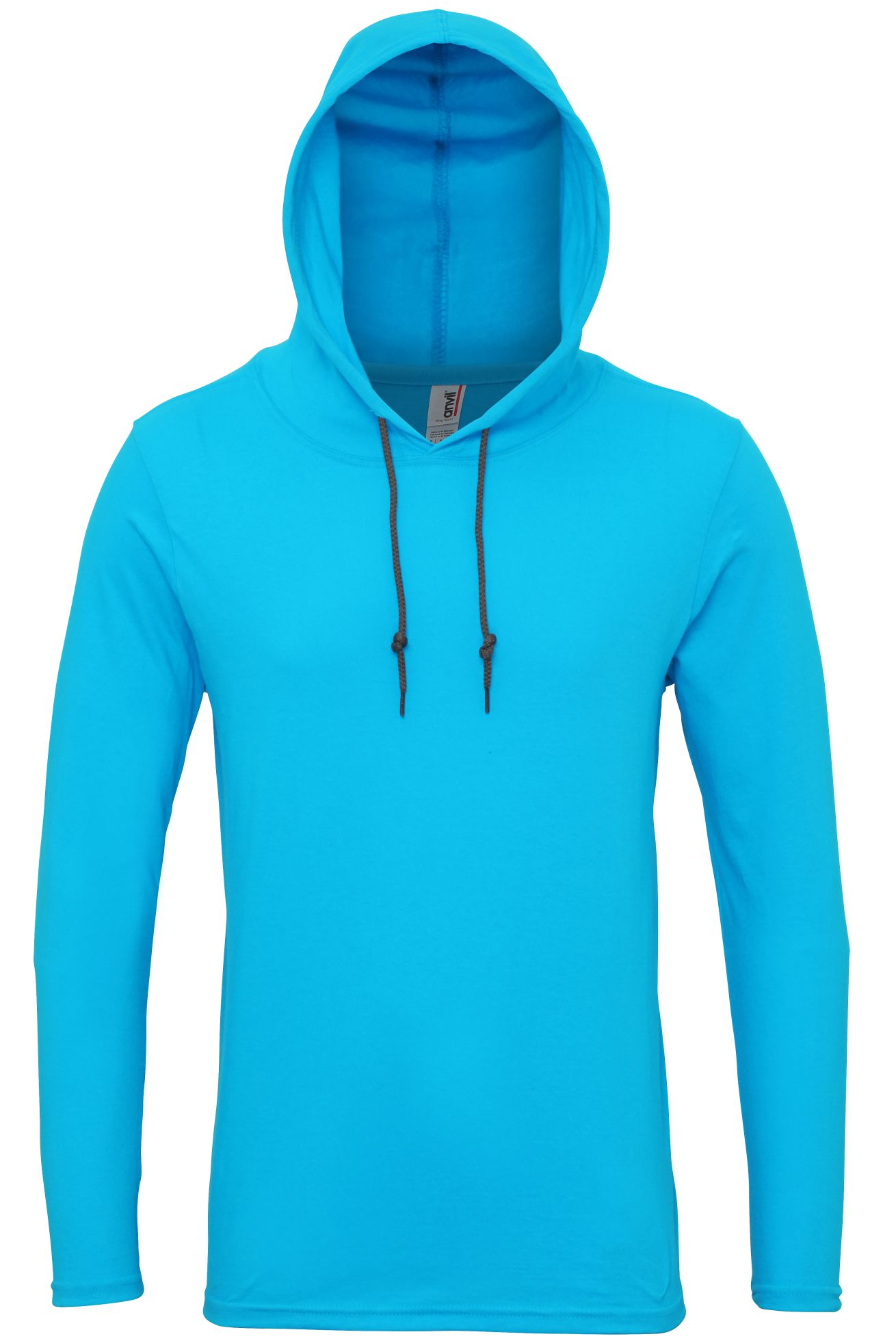 Mens-Adult-Fashion-Basic-Long-Sleeve-Hooded-T-Shirt-Hoodie-Tee-Top-Casual-Plain thumbnail 5
