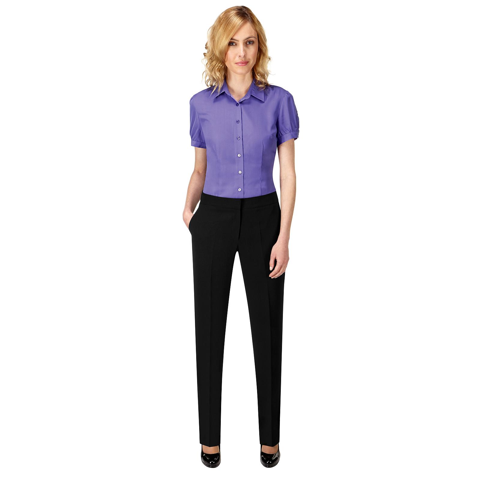 c222e88b9e71 Sentinel Womens Ladies Essential Natalie Work Suit Trousers Formal Fit Dress  Pants Black