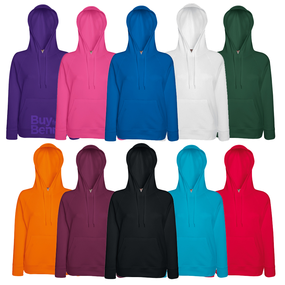 Fruit of the Loom Lightweight Hooded Damen Sweatshirt Lady-Fit 62148