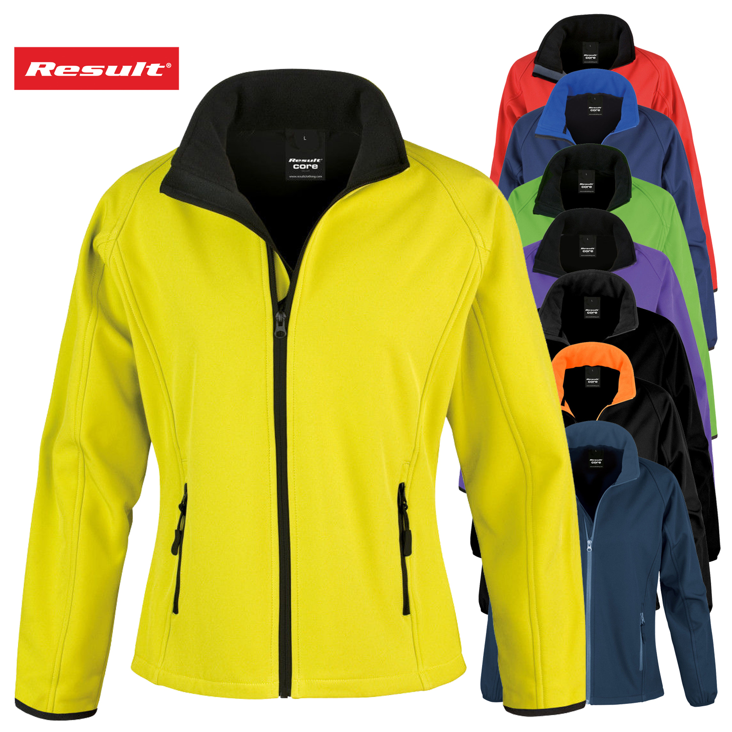 Result Core Ladies Printable Softshell Jacket Water Repellent Breathable R231F