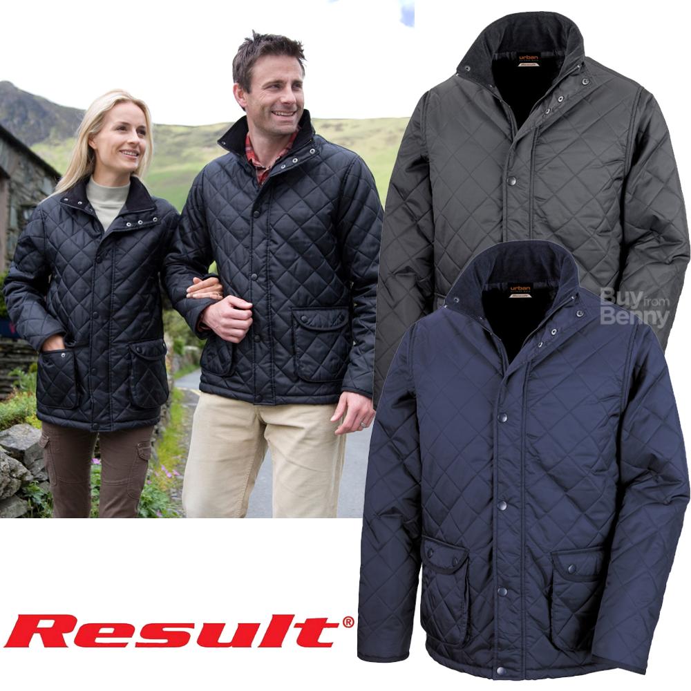 RESULT QUILTED JACKET LIGHTWEIGHT SMART COAT LINED WARM MEN/'S LADIES XS-3XL NEW