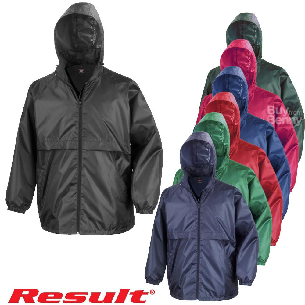 Black Result Mens Core Adult Windcheater Water Windproof Jacket XL