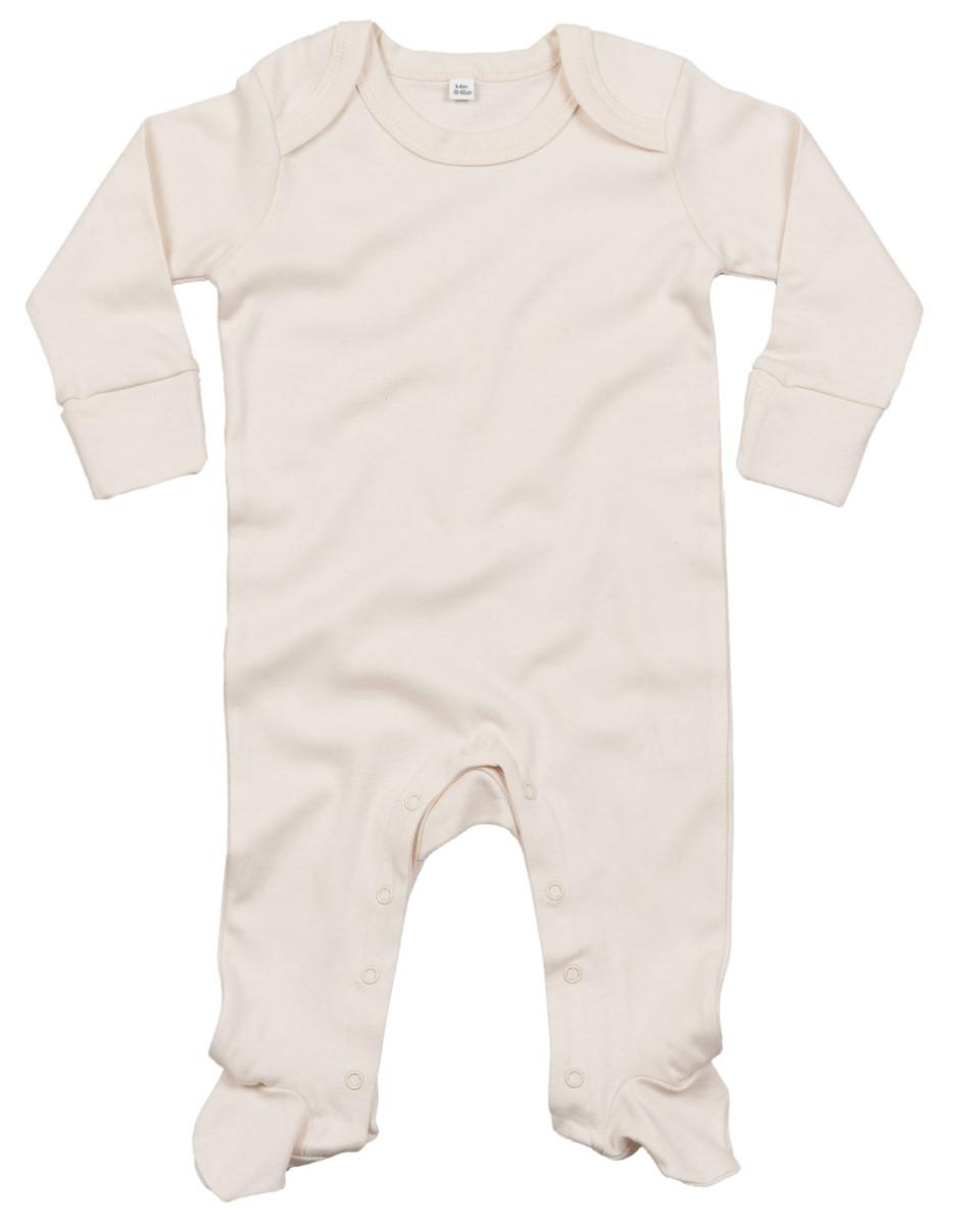 BABY-SLEEPSUIT-SCRATCH-MITTS-SOFT-ORGANIC-COTTON-ENVELOPE-NECK-BODYSUIT-NEWBORN thumbnail 4