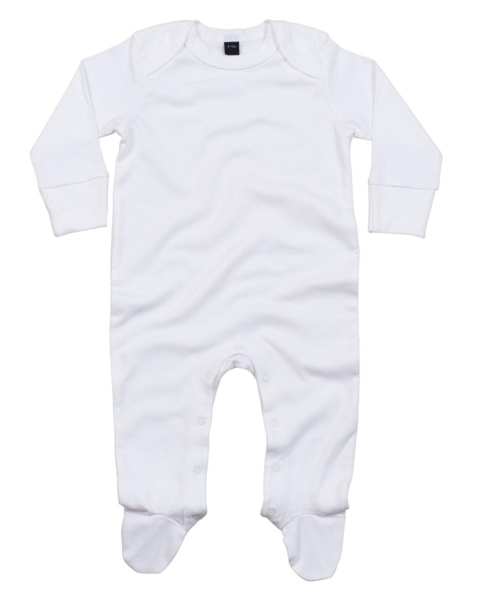 BABY-SLEEPSUIT-SCRATCH-MITTS-SOFT-ORGANIC-COTTON-ENVELOPE-NECK-BODYSUIT-NEWBORN thumbnail 8