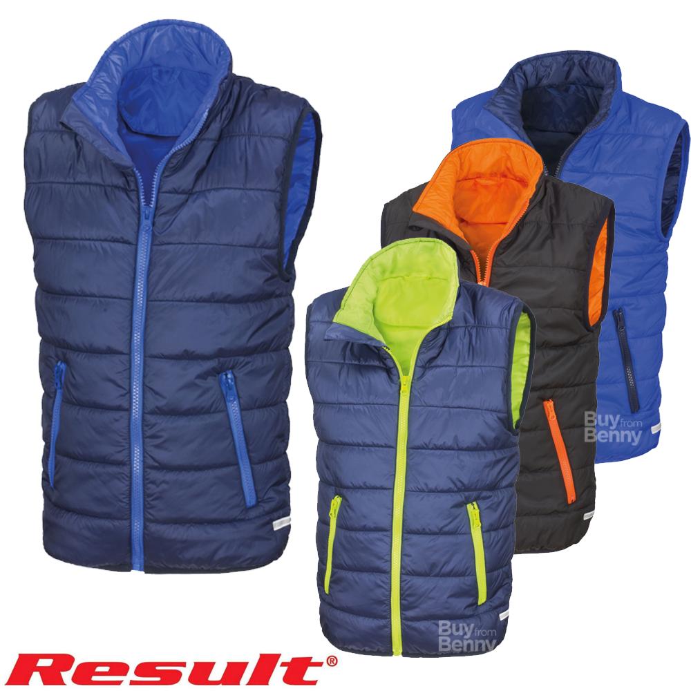 Boys Girls Childs Childrens Result Ultra Padded Bodywarmer Gilet Sleeveless Coat