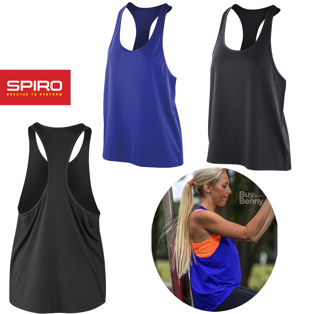 Sentinel Spiro Gym Tank Top Fitness Yoga Training Loose Fit Oversized Quick Dry Las