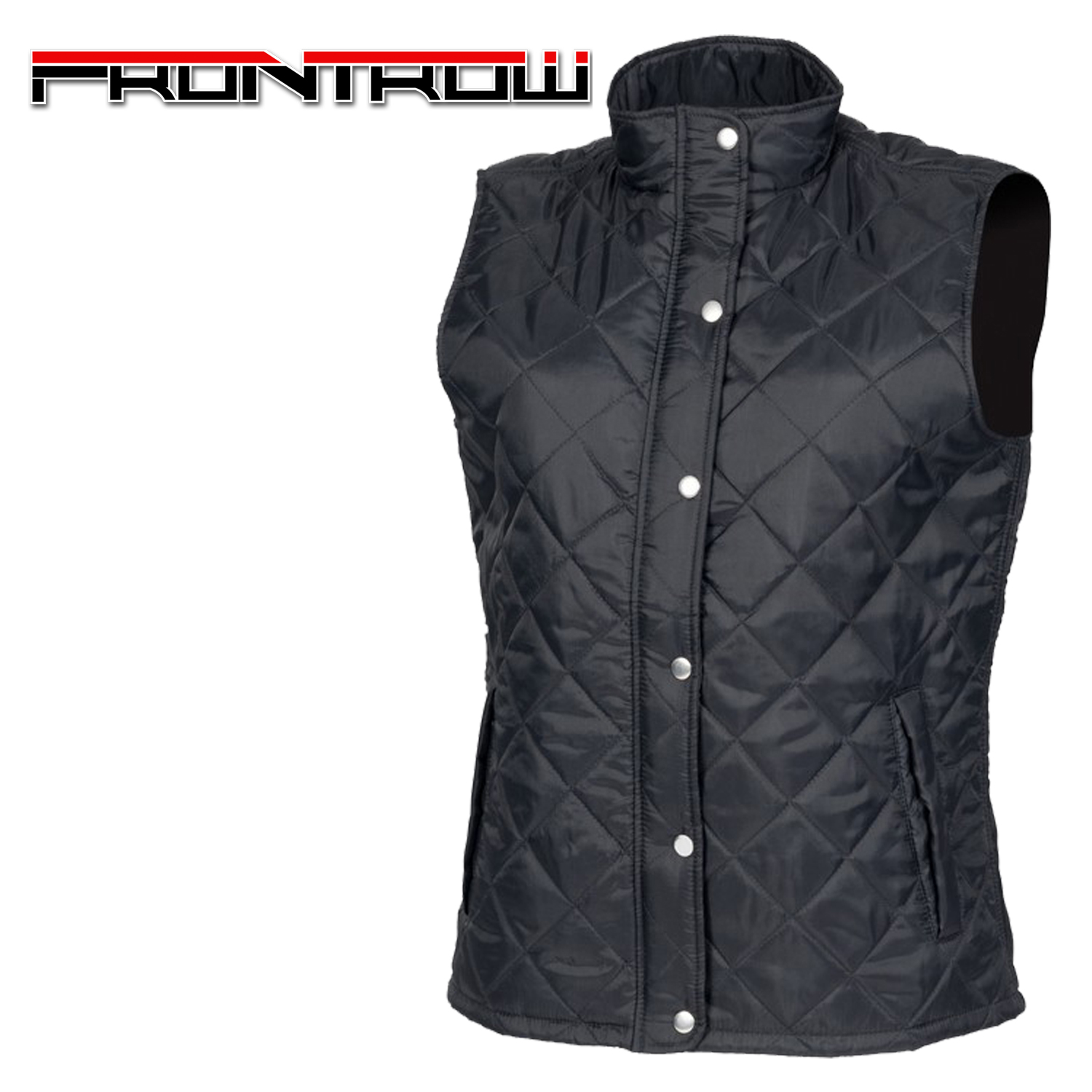 Front Row Women/'s Diamond Quilted Body Warmer Padded Zip Up Gilet Winter Jacket