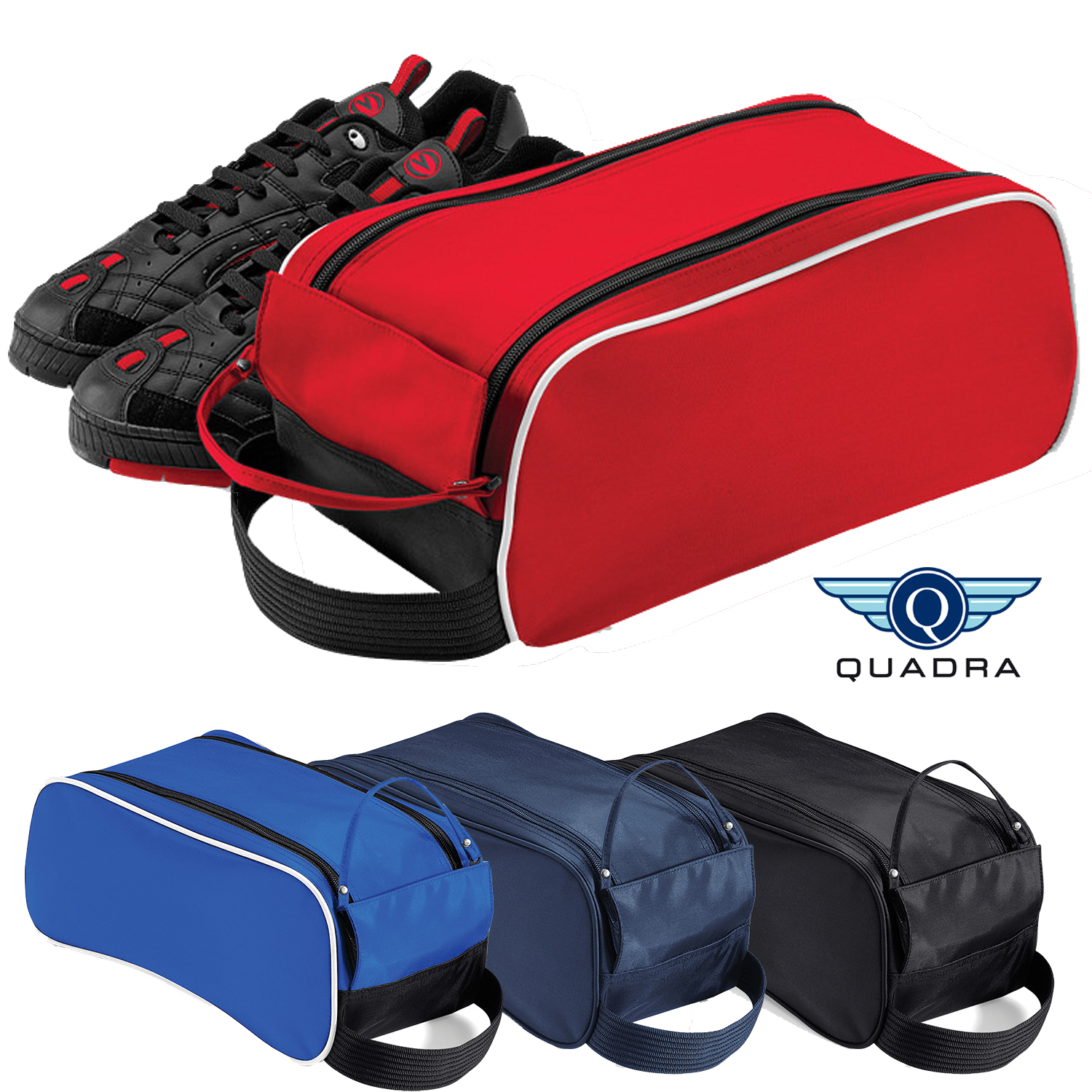 Sentinel Quadra Sports Outdoor Shoe Bag Gym Football Rugby Golf Boot Wipe Clean New
