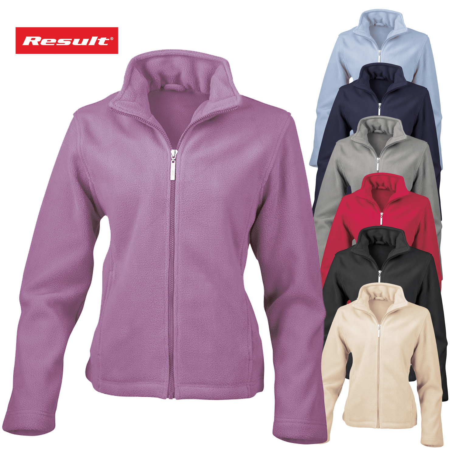 Result RE85F Womens Lightweight Micro Fleece Jacket, Ladies Fitted ...