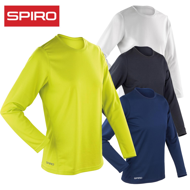 Spiro Ladies Performance Long Sleeve T-Shirt Dry Casual Tee Sleeves Quick Womens