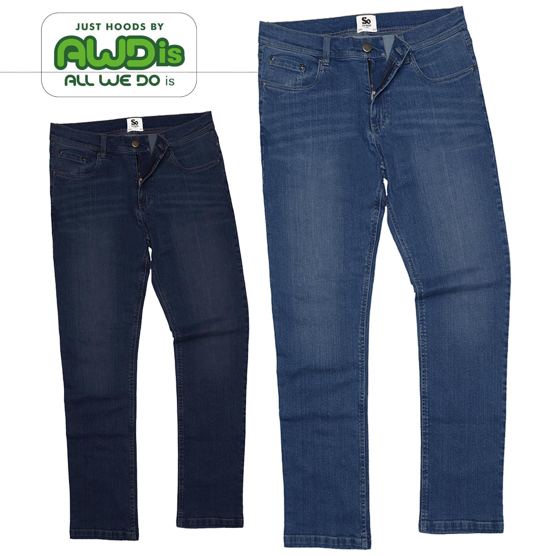 Jeans da Uomo Jeans Taglio Dritto Leo Pantaloni Jeans Dritti SD001